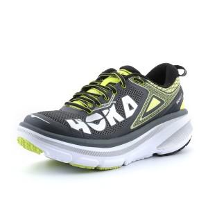 נעלי הוקה לגברים Hoka One One Bondi 4 - אפור/צהוב