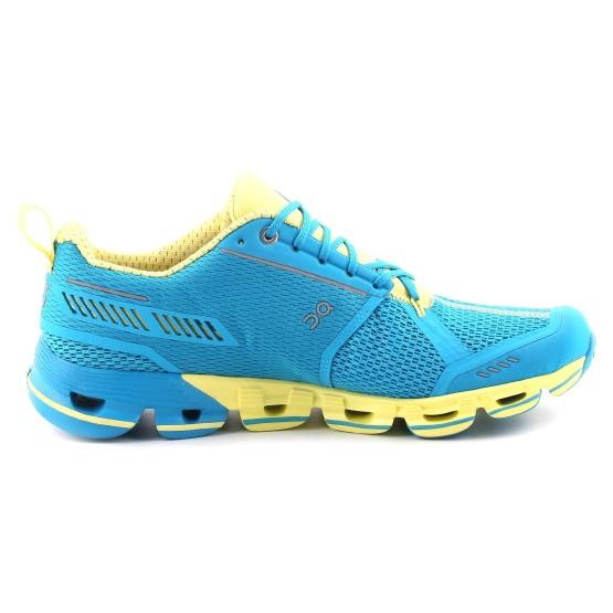 מוצרי און לנשים On Cloudflyer - כחול/צהוב