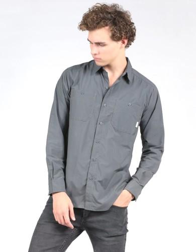 מוצרי קולומביה לגברים Columbia Corktown Solid Long Sleeve - אפור