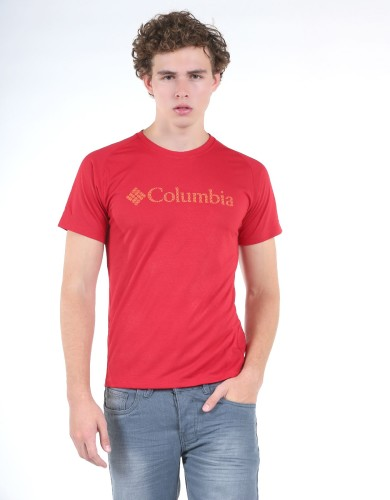מוצרי קולומביה לגברים Columbia  Mountain Tech Logo - אדום