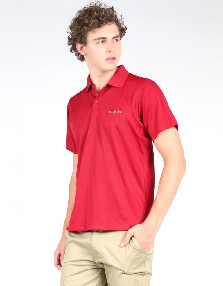 מוצרי קולומביה לגברים Columbia New Utilizer Polo - אדום