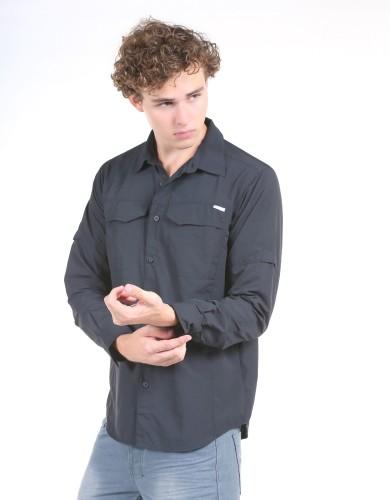מוצרי קולומביה לגברים Columbia Silver Ridge Long Sleeve - שחור