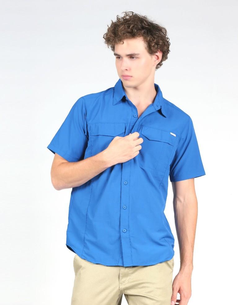 מוצרי קולומביה לגברים Columbia Silver Ridge Short Sleeve - כחול
