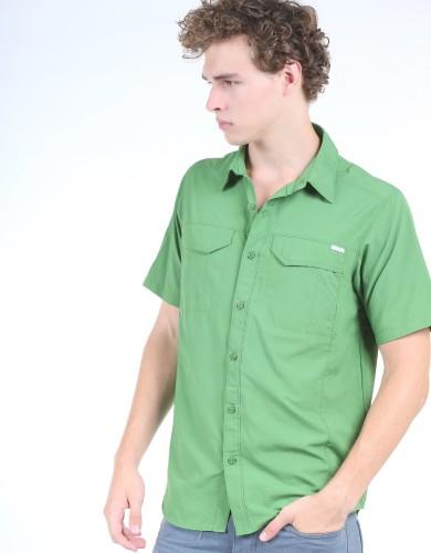 מוצרי קולומביה לגברים Columbia Silver Ridge Short Sleeve - ירוק