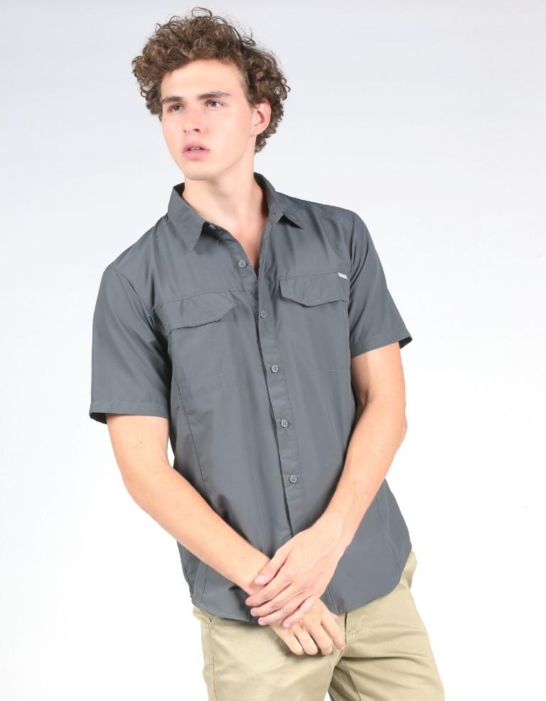 מוצרי קולומביה לגברים Columbia Silver Ridge Short Sleeve - אפור