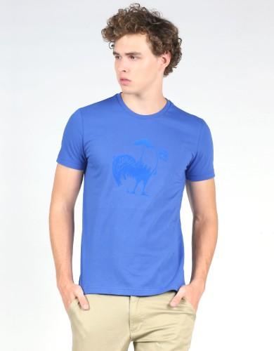 מוצרי לה קוק ספורטיף לגברים Le Coq Sportif SMU Foot Tee N2 - כחול