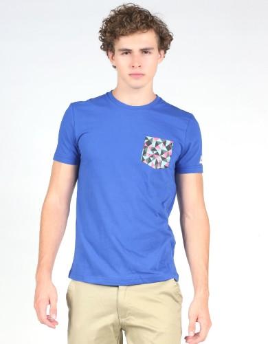 מוצרי לה קוק ספורטיף לגברים Le Coq Sportif SMU Graphic Pocket Tee - כחול