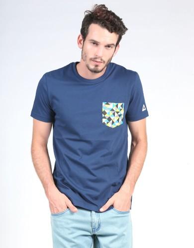 מוצרי לה קוק ספורטיף לגברים Le Coq Sportif SMU Graphic Pocket Tee - כחול כהה