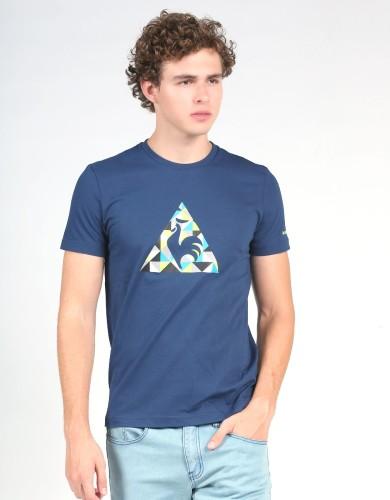 מוצרי לה קוק ספורטיף לגברים Le Coq Sportif SMU Jacquard Logo - כחול כהה