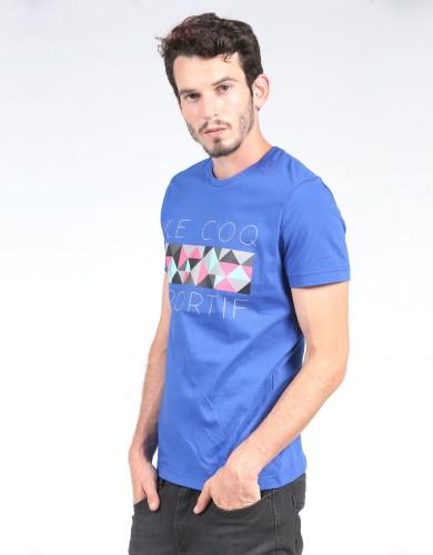 מוצרי לה קוק ספורטיף לגברים Le Coq Sportif SMU LCS Graphic Tee - כחול