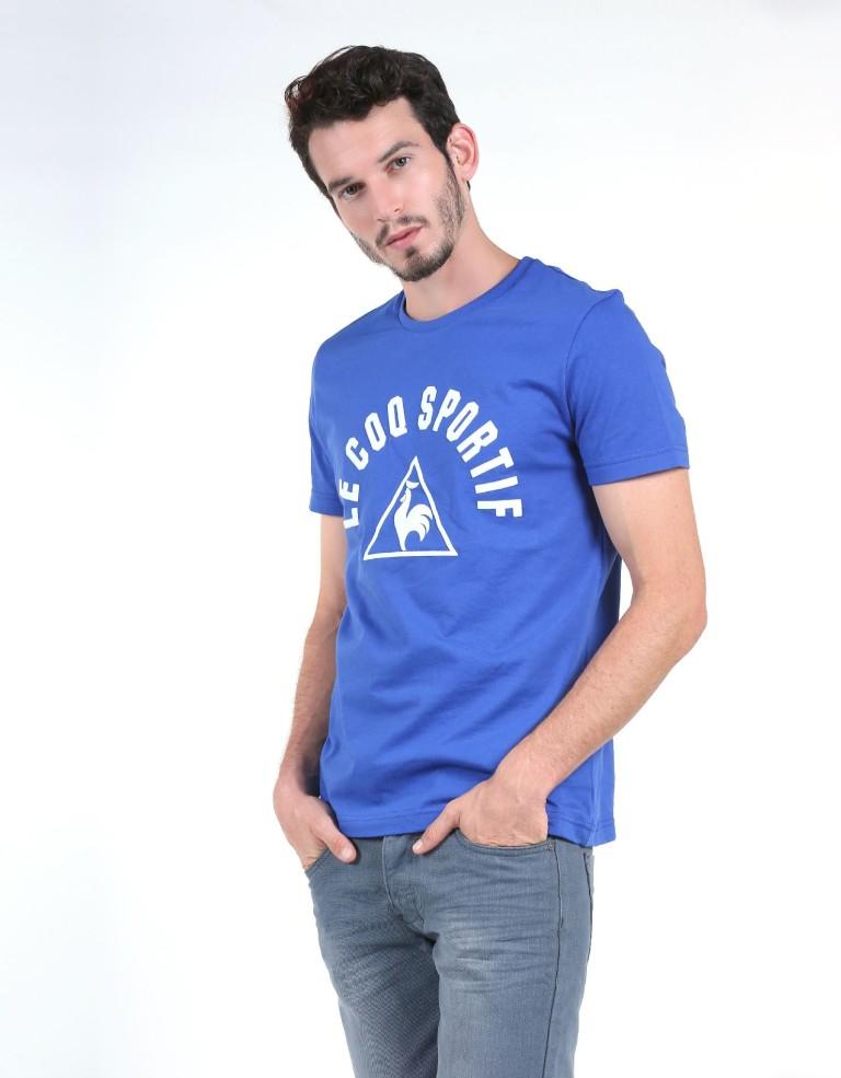 מוצרי לה קוק ספורטיף לגברים Le Coq Sportif SMU Practice Tee - כחול