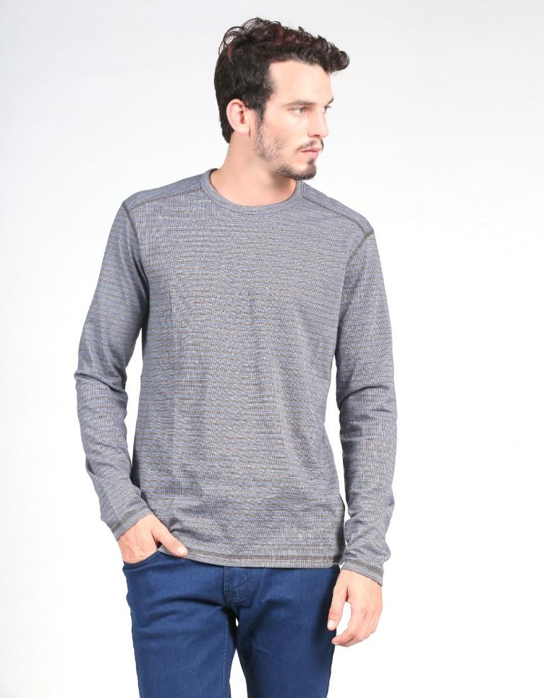 מוצרי Prana לגברים Prana Keller Long Sleeve - אפור/כחול