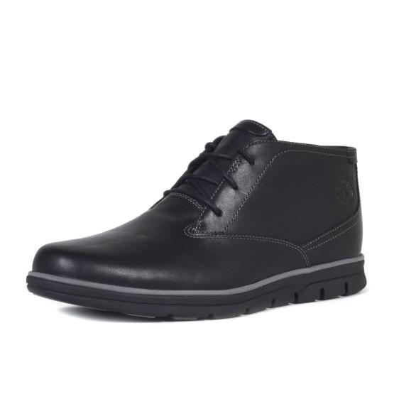 מוצרי טימברלנד לגברים Timberland Bradstreet Plain Toe Chukka - שחור מלא