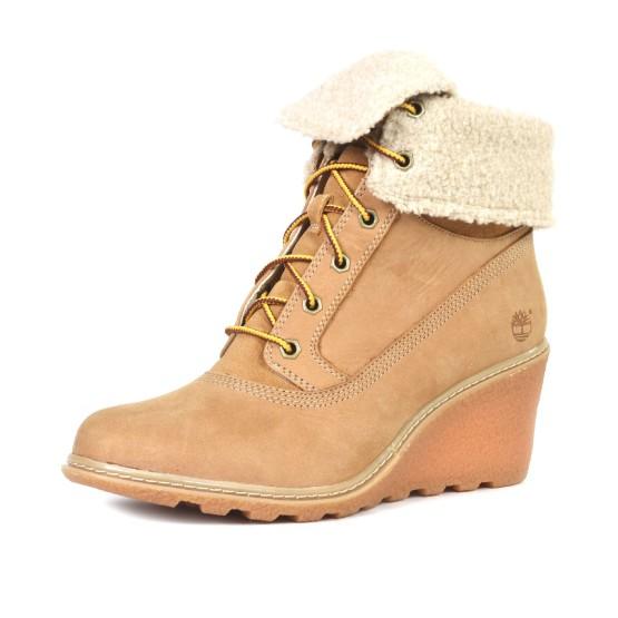 נעלי טימברלנד לנשים Timberland Amston Roll Top - חום בהיר