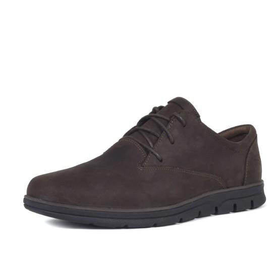 מוצרי טימברלנד לגברים Timberland Bradstreet Plain Toe Oxford - חום כהה