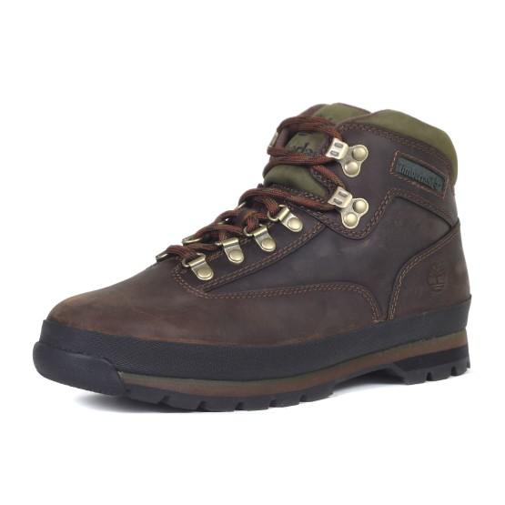 מוצרי טימברלנד לגברים Timberland Eurohiker Leather - חום כהה