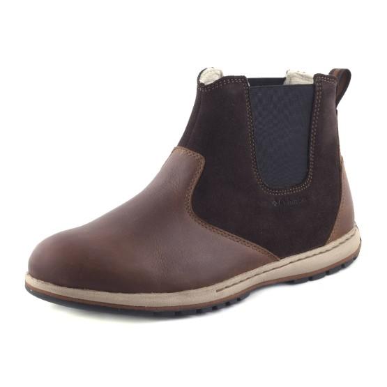 נעלי קולומביה לגברים Columbia Davenport Chelsea Waterproof - חום