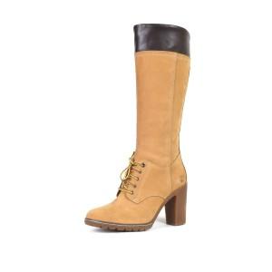 נעלי טימברלנד לנשים Timberland Glancy Tall Lace - חום בהיר