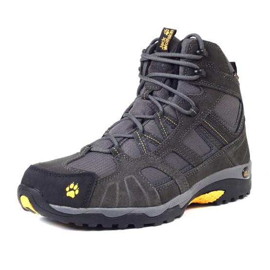 נעלי Jack Wolfskin לגברים Jack Wolfskin Vojo Hike Mid Texapore - אפור כהה