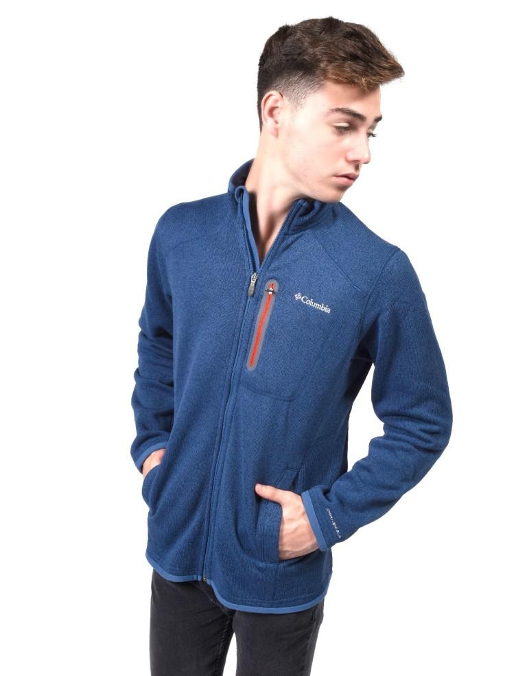 מוצרי קולומביה לגברים Columbia Altitude Aspect Full Zip - כחול