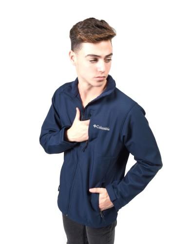 נעלי קולומביה לגברים Columbia Ascender Softshell Jacket - כחול כהה