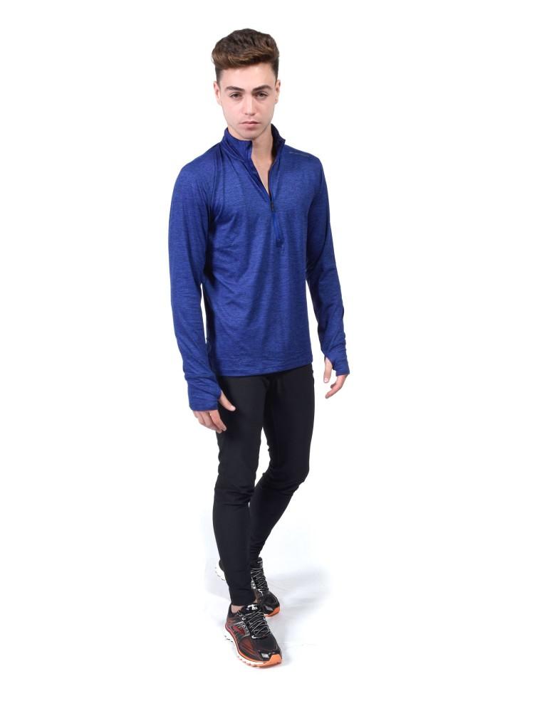 מוצרי ברוקס לגברים Brooks Dash 1/2 Zip - כחול כהה