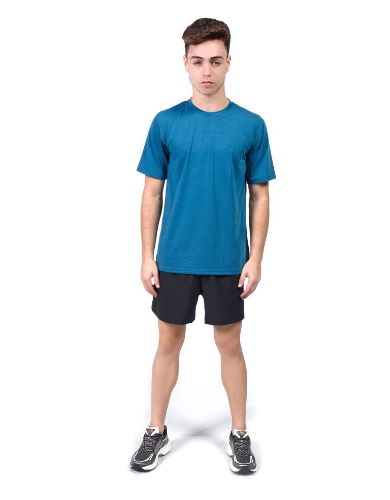 מוצרי ברוקס לגברים Brooks Distance Short Sleeve - כחול