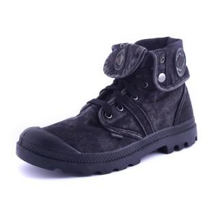 נעלי פלדיום לגברים Palladium Pallabrouse Baggy - שחור מלא