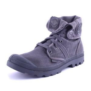 נעלי פלדיום לגברים Palladium Pallabrouse Baggy - אפור מלא