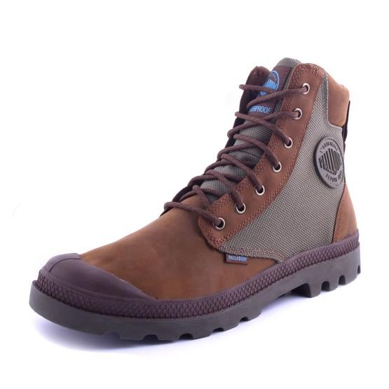 נעלי פלדיום לגברים Palladium Pampa Sport Cuff - חום/אפור