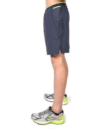 """נעלי ברוקס לגברים Brooks Sherpa 7"""" 2-in-1 Short - אפור כהה"""