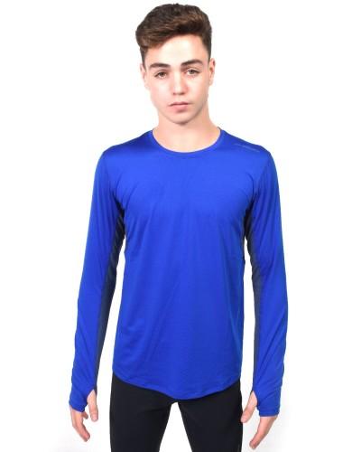 מוצרי ברוקס לגברים Brooks Steady Long Sleeve - אפור/כחול