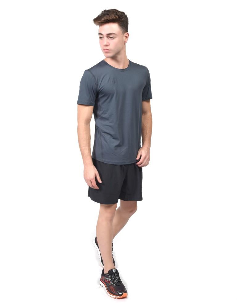 נעלי ברוקס לגברים Brooks Steady Short Sleeve - אפור