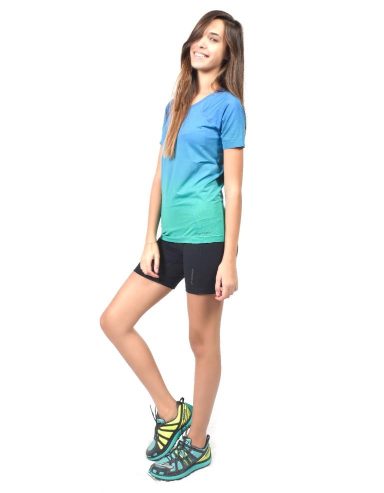 נעלי ברוקס לנשים Brooks Streaker Short Sleeve - כחול/ירוק