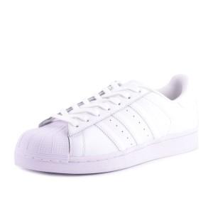 נעלי אדידס לנשים Adidas Superstar Foundation J - לבן מלא