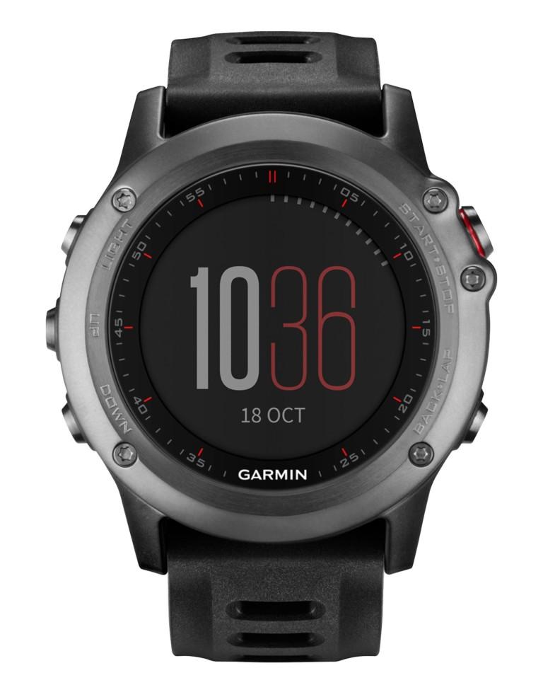 מוצרי Garmin לנשים Garmin Fenix 3 Sapphire Wrist HR - שחור