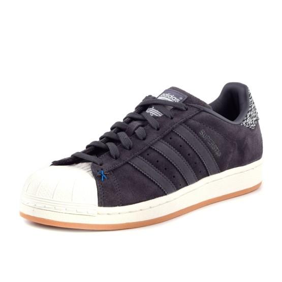 נעלי אדידס לגברים Adidas Superstar - שחור הדפס