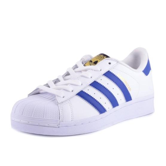נעלי אדידס לנשים Adidas Superstar - כחול/לבן