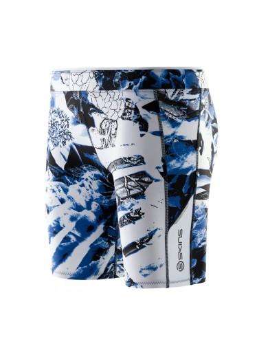 מוצרי Skins לנשים Skins A200 Shorts - כחול/לבן