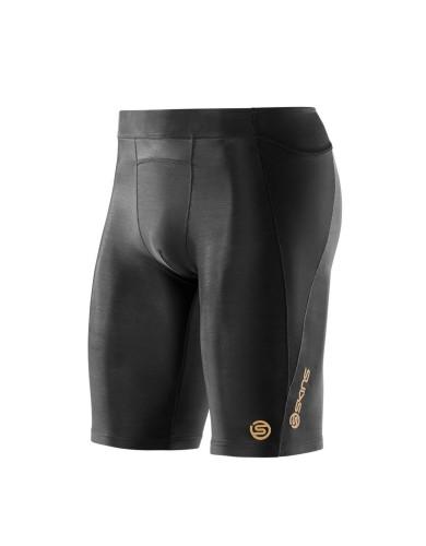מוצרי Skins לגברים Skins A400 Half Tights - שחור מלא