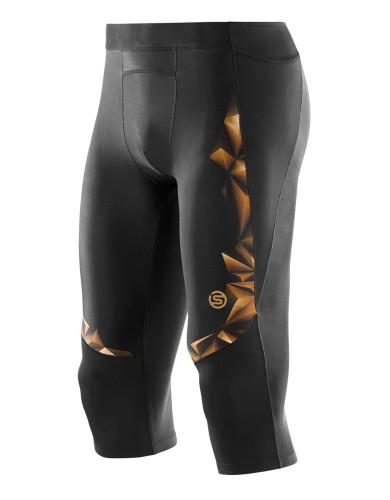 מוצרי Skins לגברים Skins A400 Three Quarter Tights - שחור/כתום