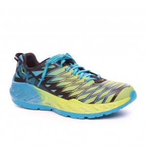 נעלי הוקה לגברים Hoka One One Clayton 2 - כחול/צהוב