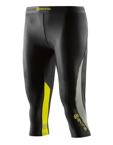 מוצרי Skins לנשים Skins DNAmic Capri Tights - שחור/צהוב