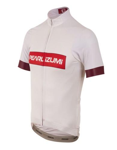 מוצרי פרל איזומי לגברים Pearl Izumi Elite Pursuit Summer Jersey - לבן/אדום