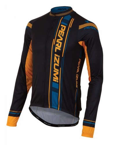 מוצרי פרל איזומי לגברים Pearl Izumi Elite Thermal LTD Jersey - שחור/כתום