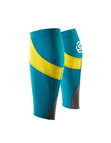 נעלי Skins לנשים Skins Essentials Calf Tights MX - כחול/צהוב