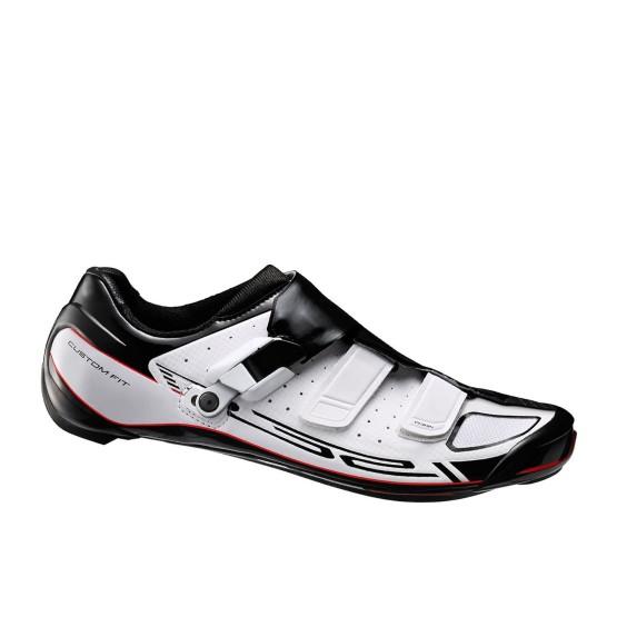 נעלי שימנו לגברים Shimano R321 - שחור/לבן