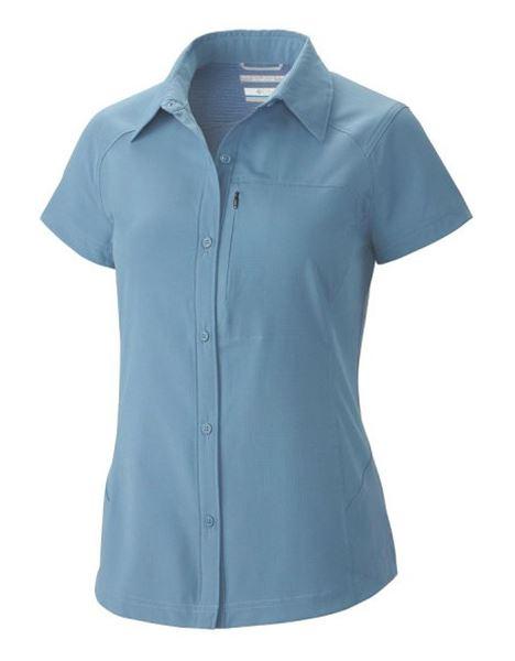 מוצרי קולומביה לנשים Columbia Silver Ridge Short Sleeve - תכלת