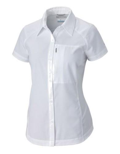 מוצרי קולומביה לנשים Columbia Silver Ridge Short Sleeve - לבן