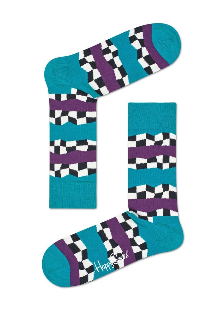 מוצרי Happy Socks לנשים Happy Socks Checkered Stripe - צבעוני